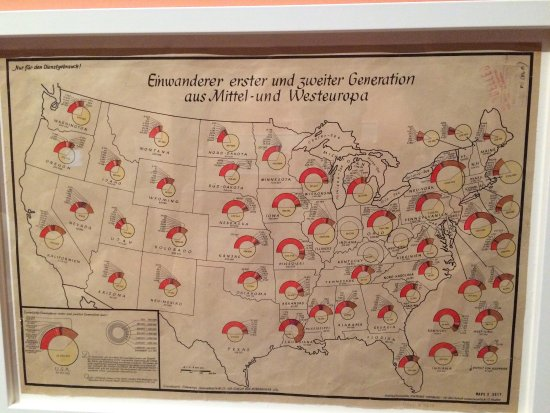 Nazi Propaganda Map Of The United States Showing Populations With - Us map drawn by brits