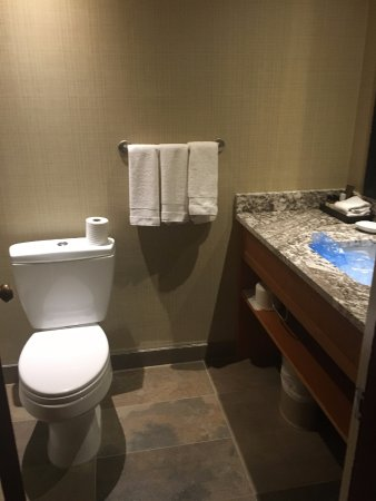 """Fairmont Jasper Park Lodge: Toilet was very high and uncomfortable, I'm 5'10"""" and my feet could barely touch the floor...LOL"""