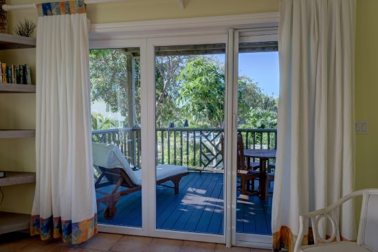 Governor's Harbour, Eleuthera: View Of Private Deck From Living Area