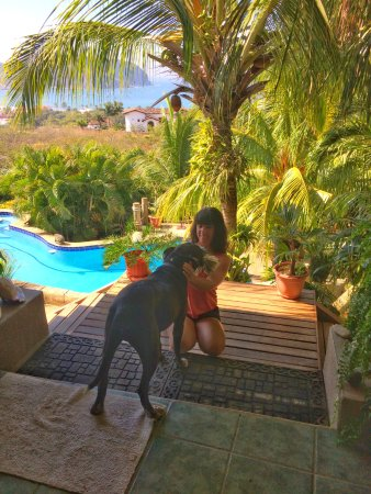 Las Palmas B&B : I miss this pooch- he's the best! And check out that view behind us!