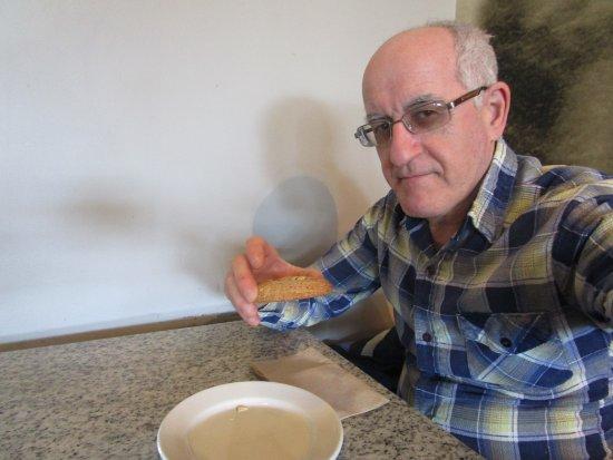 Rumford, RI: Louis eating his cookie.