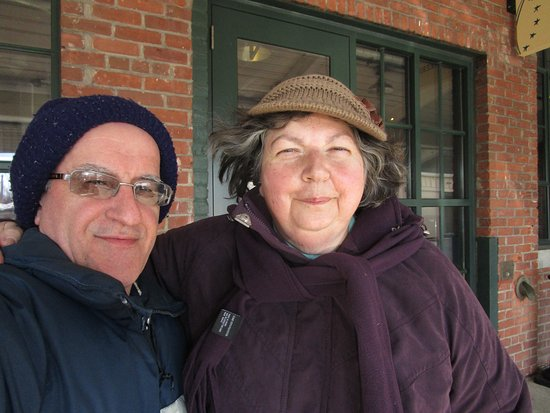 Rumford, RI: Louis and I in front of Seven Stars Bakery.
