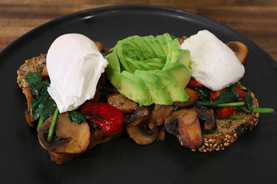 Windsor, Australia: Veggie Breakkie. Healthy start to the morning!