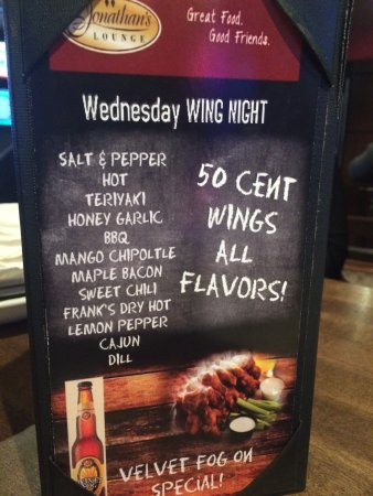 Leduc, Canadá: Wednesday Wing Night ...yummy wings