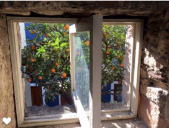 La Casa del Atrio: A view from the window over the hot tub