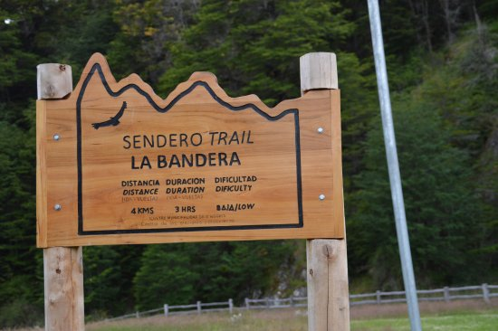 Villa O'Higgins, Chile: SEndero Trail La Bandera Starting point