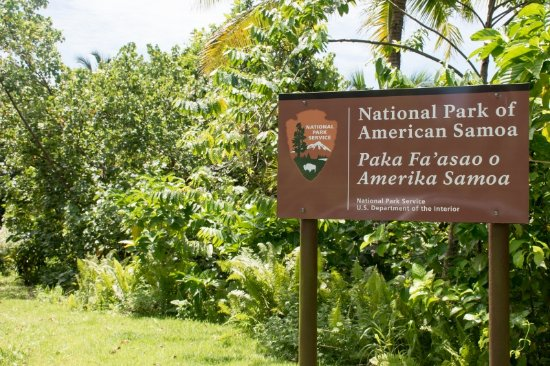 National Park of American Samoa, Amerikansk Samoa: Park entrance - only a sign along the road