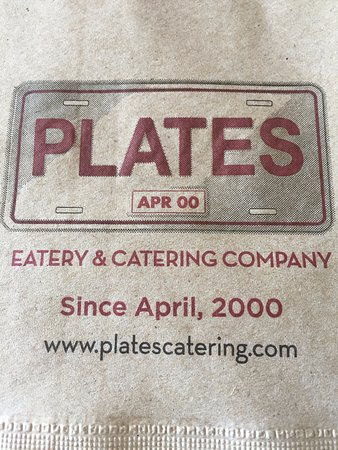 Customized napkins, Plates Eatery & Catering Co, 2601 Cliffe Ave, Courtenay, British Columbia