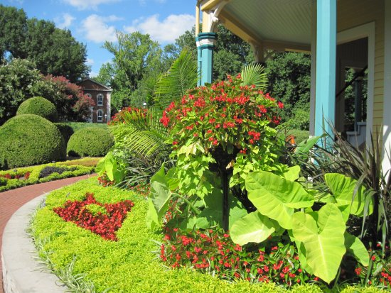 MOBOT Summer-Plantings by Maze Tower - Picture of Missouri Botanical ...