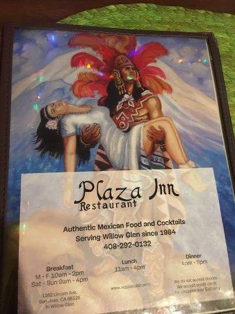 Plaza Inn: Menu