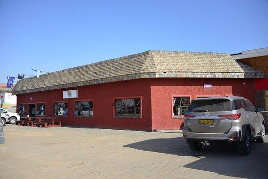 Hentiesbaai, Namibia: a caminho de cape cross... uma refeição fabulosa