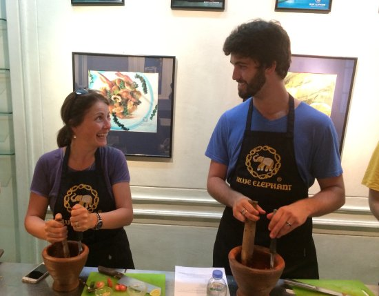 Blue Elephant Cooking School: Mom & son outing!