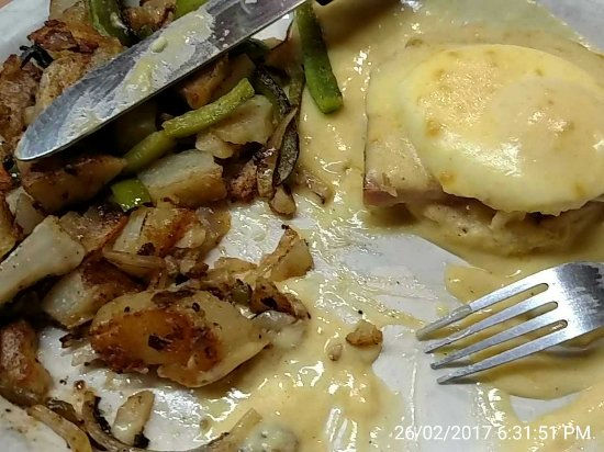 King City, CA: Special today: eggs Benedict! Yum!
