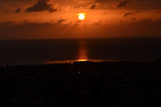 Axiothea Hotel: Sunset from balcony
