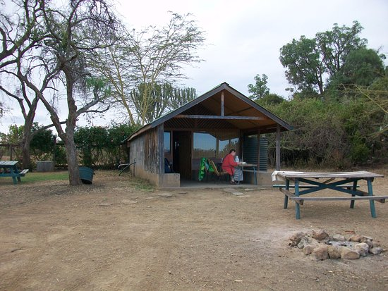 Fisherman's Camp : Outside of 2nd cabin with window(1st cabin same shape but entire window glass missing.
