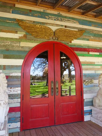 Round Top, TX: front door entry
