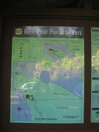 Denman Island, Canada: Map of the park.