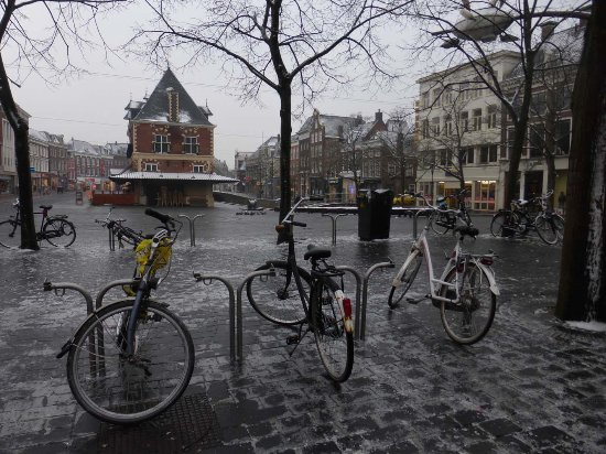 Leeuwarden, The Netherlands: Glatteis am Waagplein