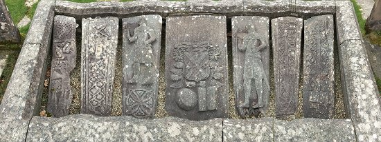 Kilmartin church and graveyard : Medieval grave covers