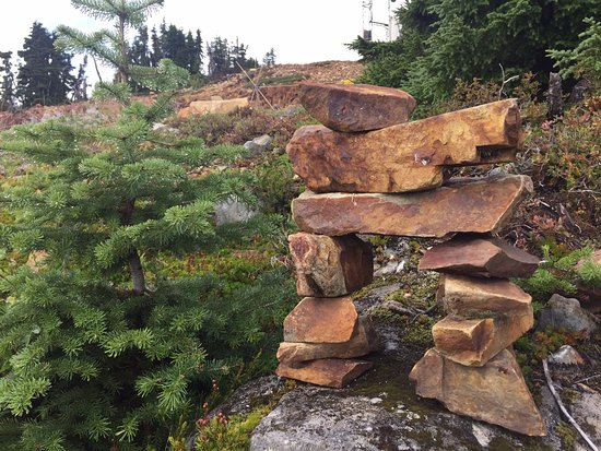 Inukshuk at the top, Mount Washington Alpine Resort , 1 Strathcona Pkwy, Mount Washington, BC