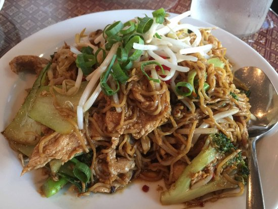 simply thai: Egg noodles with pork