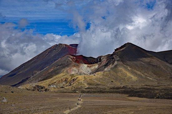 Tongariro National Park, Neuseeland: Volcanic crater