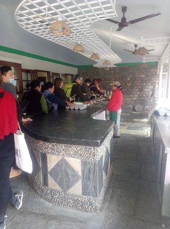Kathmandu Valley, Nepal: Greenline passengers at Riverside Spring Resort for lunch