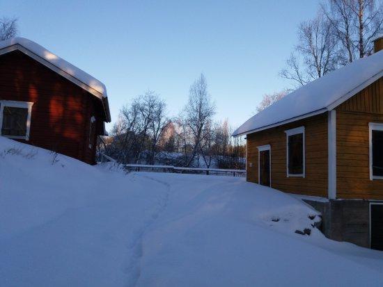 Juuka, Finland: Myllymuseon alue talviunessa