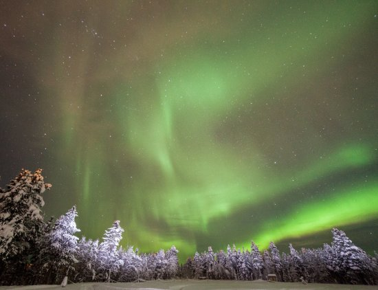 Ivalo, Finlande : Aurora Borealis on-site at Aurora Village