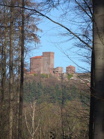 Annweiler am Trifels, Tyskland: vue du trifels castel depuis le refuge