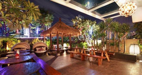 Sky Garden Cafe With Outdoor Gazebo View Picture Of Sky Garden Cafe Jakarta Tripadvisor