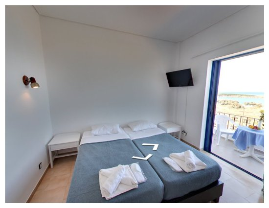 Parigoria, Greece: Room with balcony, partial sea view