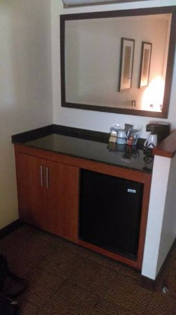 Hyatt Place Ft. Lauderdale Airport & Cruise Port: Mini fridge and bar area