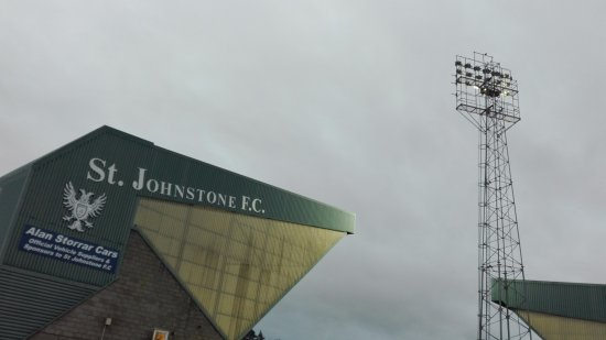 ‪‪Perth‬, UK: St. Johnstone FC, North Stand, McDiarmid Park, Perth, Scotland.‬