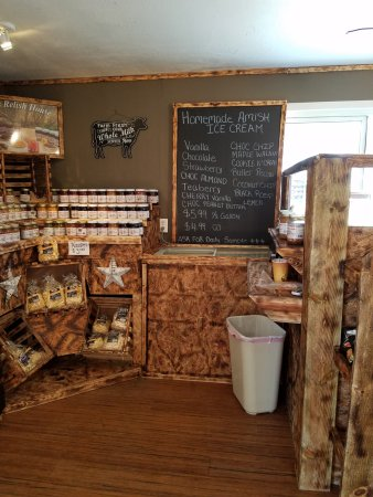 Irwin, PA: Amish homemade ice cream and jams and pickles