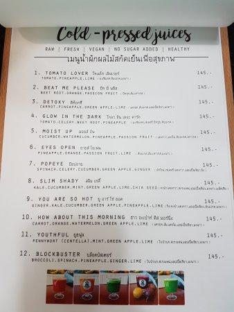Coco Mango: page5 - cold pressed juices menu