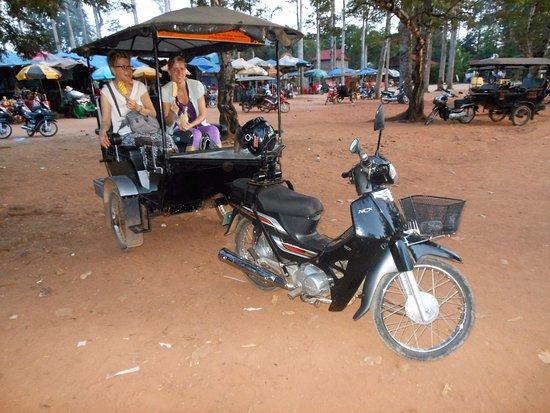 Angkor Driver Sareom: Us in mr Sareom's tuktuk