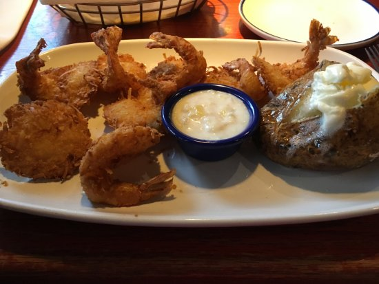 Red Lobster: coconut shrimp and baked potato