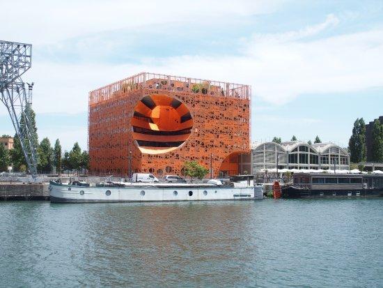 Les Bateaux Lyonnais: 奇抜な建物群