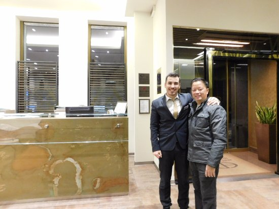 BEST WESTERN Hotel Madison : Me and Marco , a friendly helpful front desk receptionist
