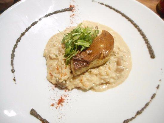 Le Paradisio: risotto aux champignons et foie gras poelé