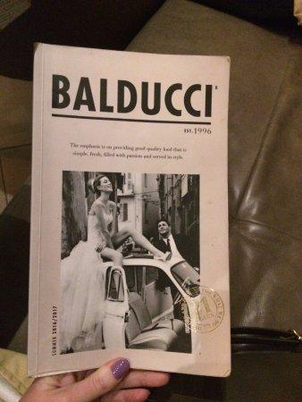 Balducci's: Menu