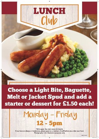 Marchwiel, UK: Lunch club every weekday 12 - 5pm