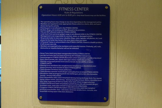 Gym rules picture of aston priority simatupang hotel