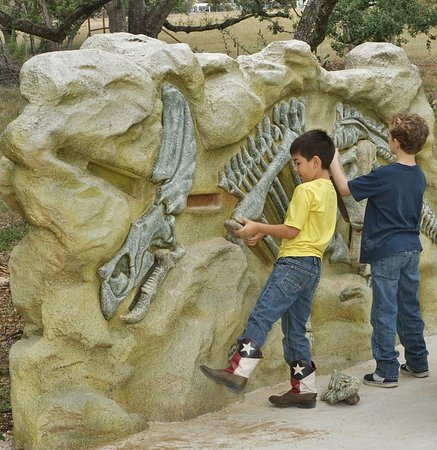 Bandera Natural History Museum: Four educational play stations where you dig for dinosaur bones.