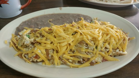 Port Isabel, TX: MIgas with cheese