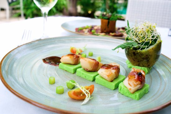 Bali Pearl Restaurant: Grilled scallop with asparagus mousse