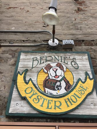 """Bernie's Oyster House: Great Signage in case your """"Beer Lost"""""""