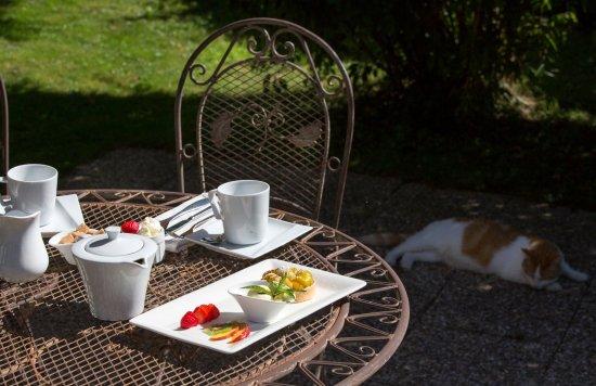 Auberge de la Terrasse Restaurant: le jardin...