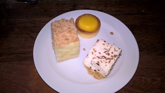 Nancy Hands Bar & Restaurant: A dessert with a variety of cakes.